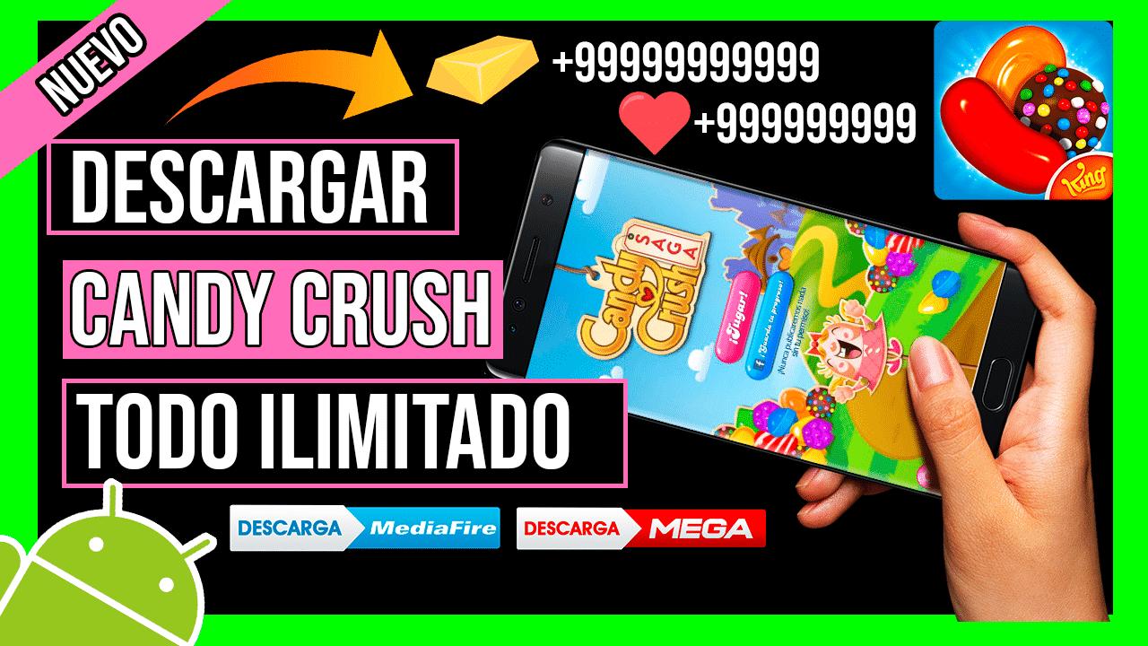 Descargar Candy Crush Saga Hackeado Para Android APK Vidas, Boosters y Oro Infinito