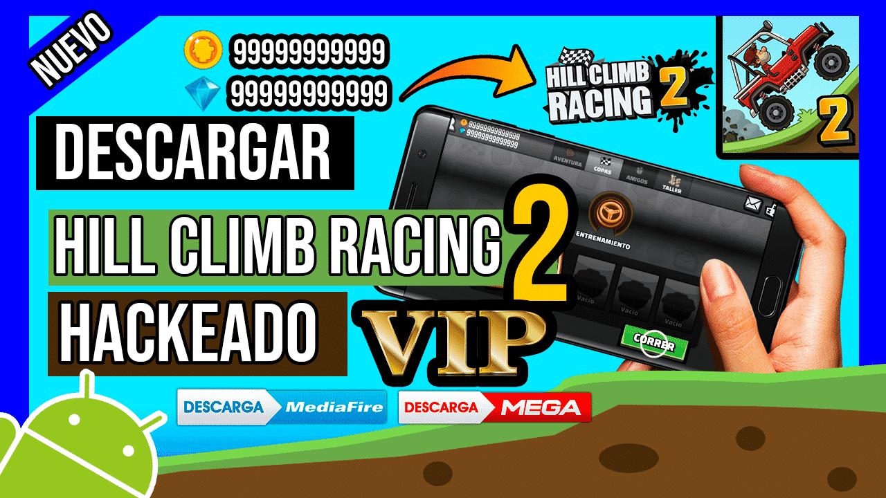 Descargar Hill Climb Racing 2 Hackeado Para Android, Gemas, Monedas y VIP Gratis
