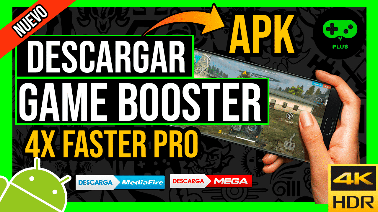 Descargar Game Booster 4X Faster Pro Para Android APK por Mediafire