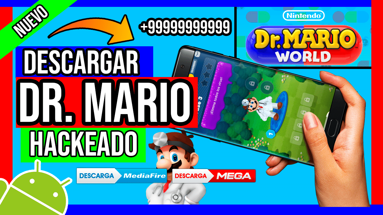 Descargar Dr Mario World Hackeado Para Android APK MOD Diamantes y Monedas Infinitas