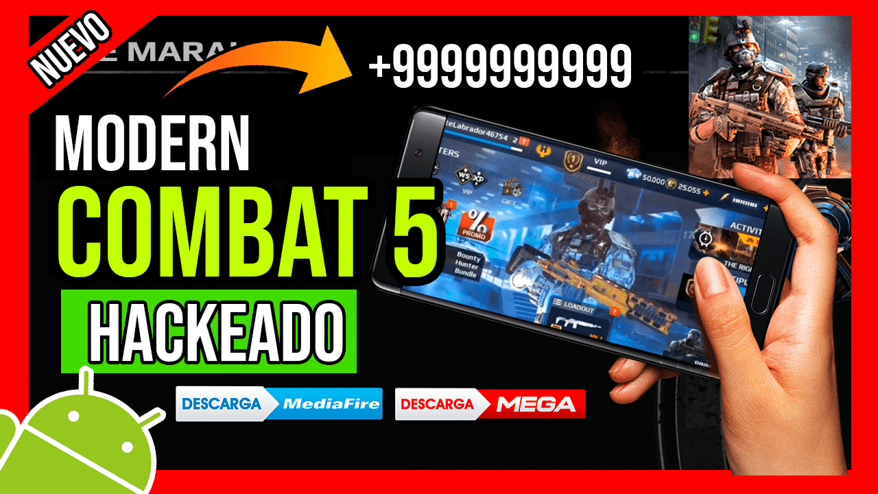 Descargar Modern Combat 5 Hackeado Para Android APK Ultima Version